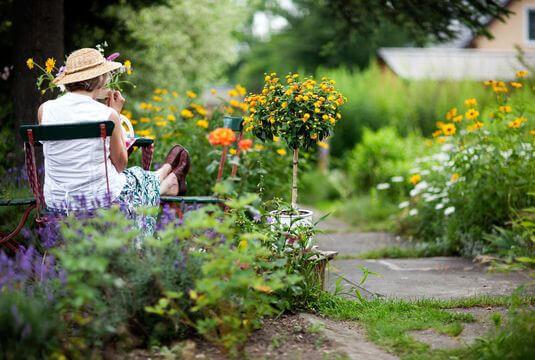 Profiter d'un jardin fleuri